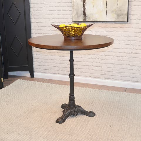 "Rigby Chestnut/ Black Bistro Table - 30"" Round"