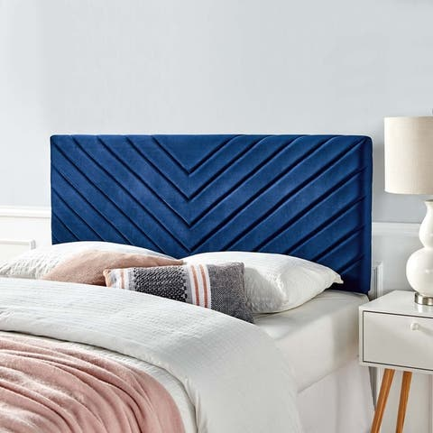Alyson Angular Channel Tufted Performance Velvet Twin Headboard