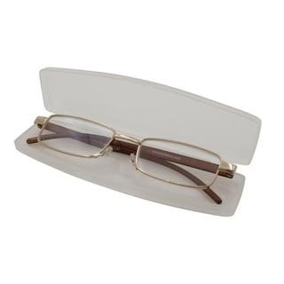 Link to Able Vision Slim Reader Brown Unisex Reading Glasses Similar Items in Eyeglasses