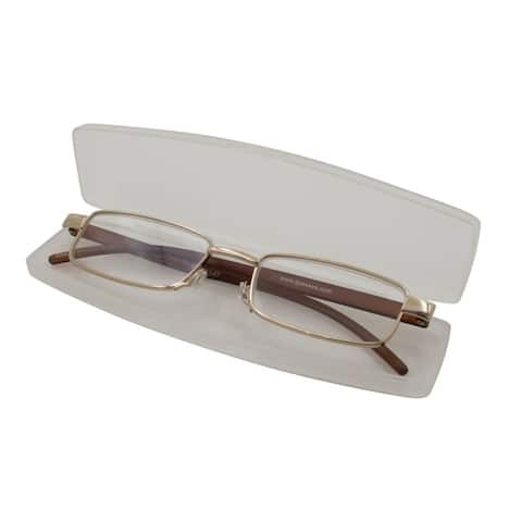Able Vision Slim Reader Brown Unisex Reading Glasses