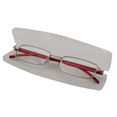 Able Vision Slim Reader Red Unisex Reading Glasses
