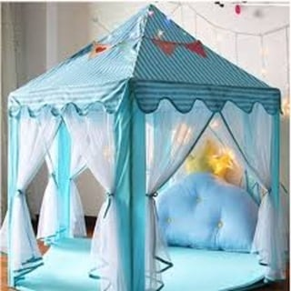 Link to Princess Tent for Kids Playhouse LED Star Lights Blue Similar Items in Outdoor Play