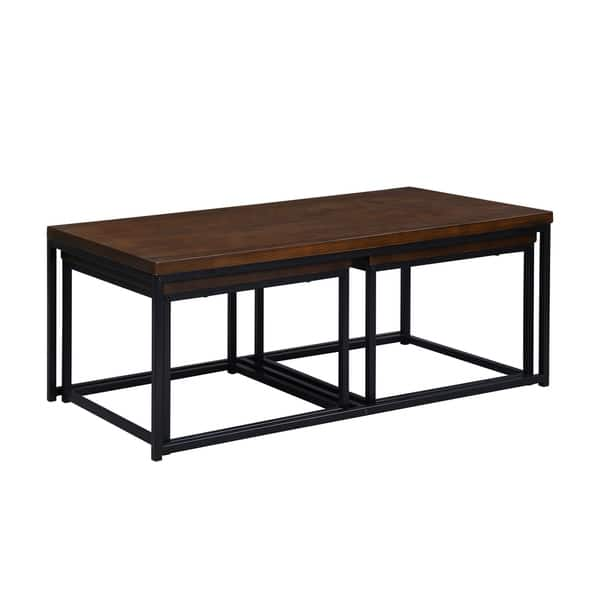 Carbon Loft Demchak Black 3 Piece Coffee Table And Side Table Set Overstock 30542987