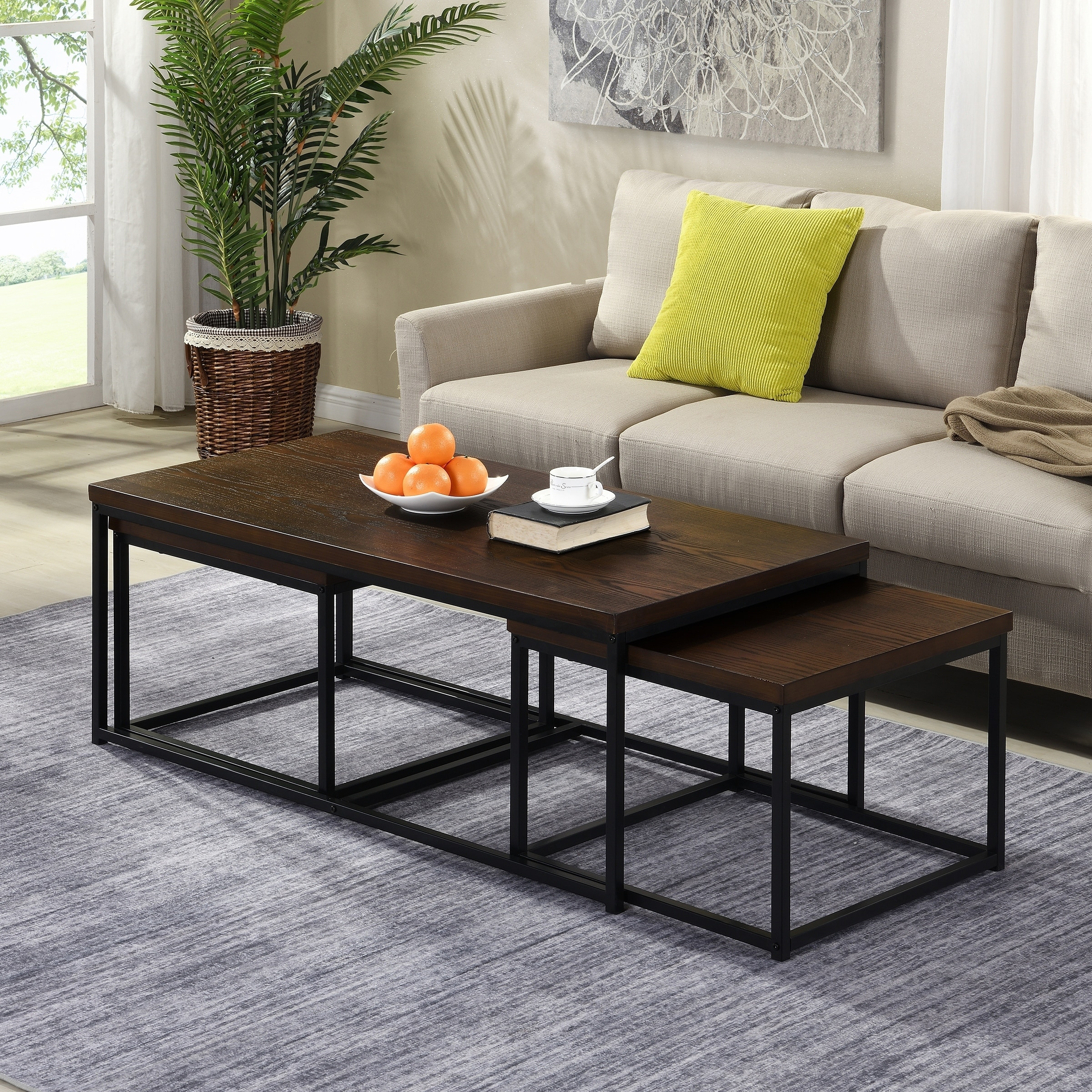 - Shop Carbon Loft Demchak Black 3-piece Coffee Table And Side Table