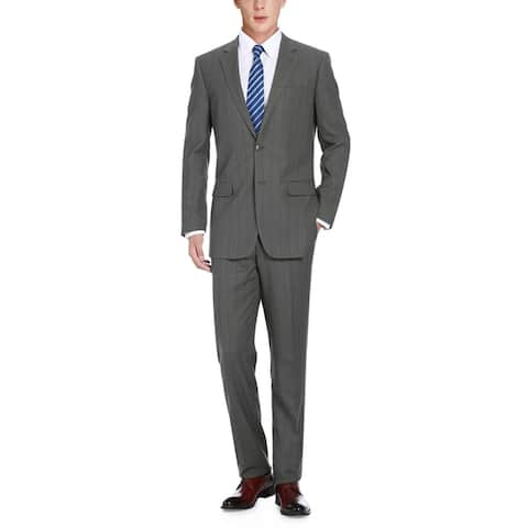 Men's 2-Piece Classic Fit Windowpane Check Suit