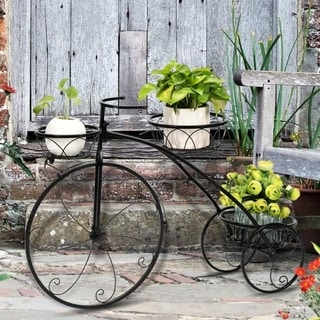 Link to Zimtown Paint Iron Bicycle Shape 3 Plant Stand Black Similar Items in Planters, Hangers & Stands