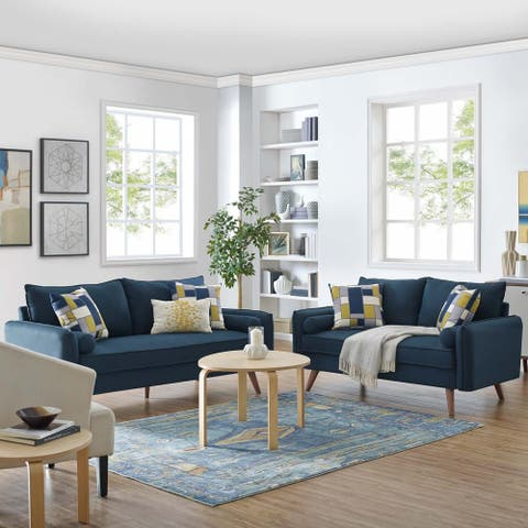 Carson Carrington Lagerfors Revive Upholstered Fabric Sofa and Loveseat Set