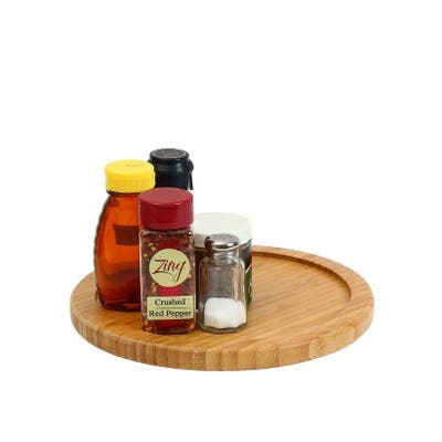 YBM HOME Bamboo Wooden Lazy Susan Turntable