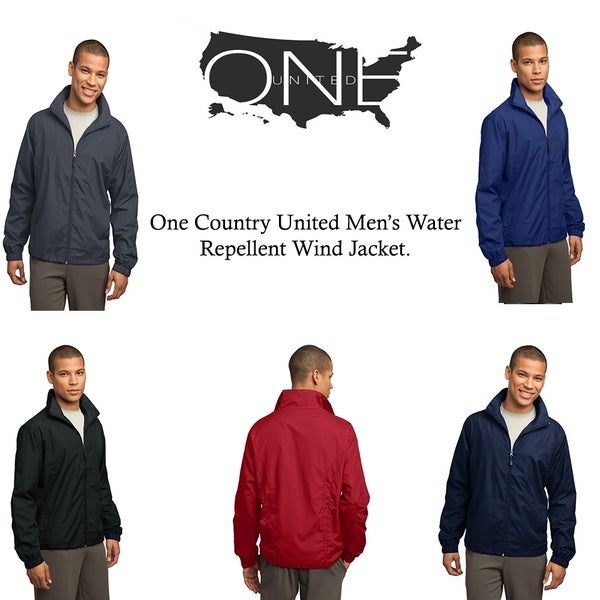 One Country United Men's Water Repellent Wind Jacket.. Opens flyout.