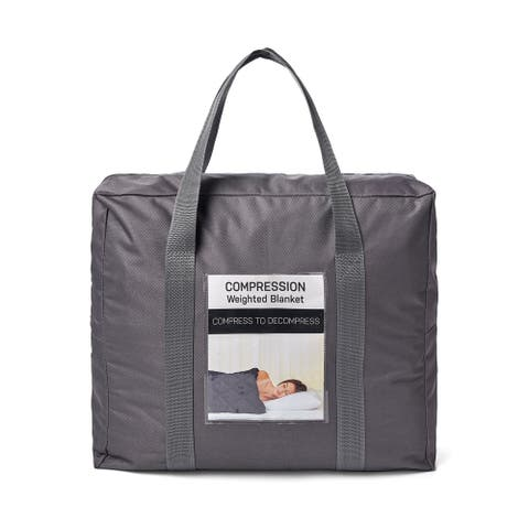 T400 Cotton Shell Weighted Throw in Tote Bag
