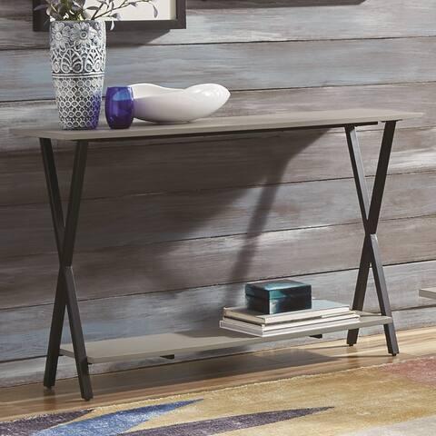 Carbon Loft Eres Concrete Coated-Top Media Console Table