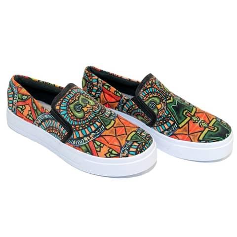 JehanArt Womens Slip-On Comfortable Sneakers Flat Shoes