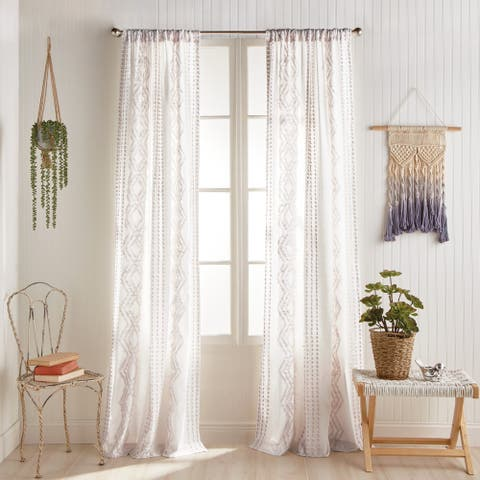 Porch & Den Narup Geometric Back Tab Curtain Panel