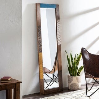 "Despina Global Mango Wood 22 x 70-inch Leaning Mirror - 22"" x 70"""