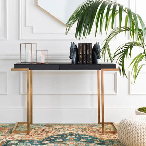 Odoin Glass and Metal Hand Crafted Console Table