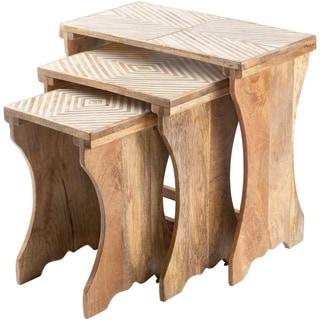Overstock Valera Mango Wood Hand Crafted Nesting Table Set (3 Piece)