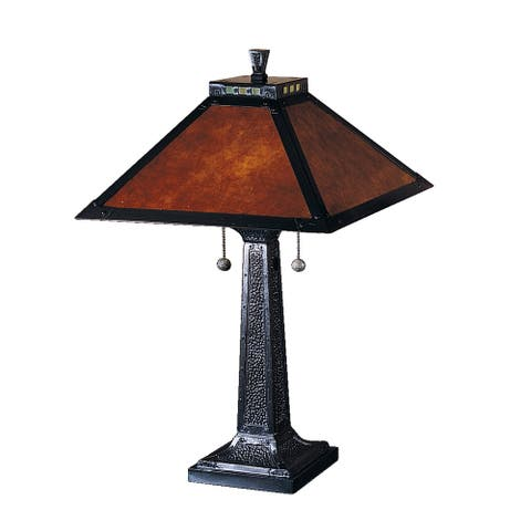 """Camelot Mica Table Lamp - 15"""" W x 24.5"""" H"""