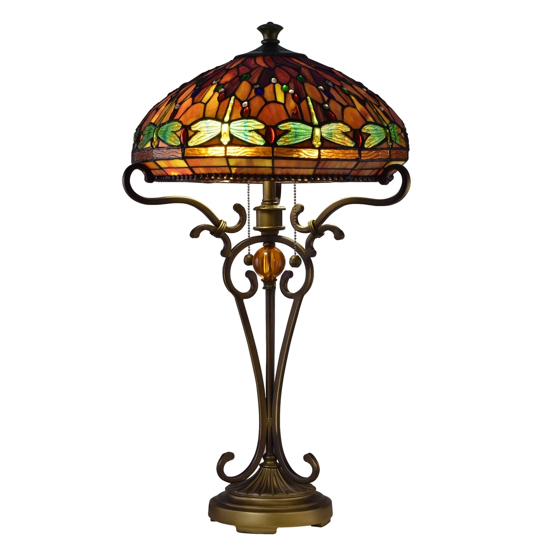Briar Dragonfly Tiffany Table Lamp