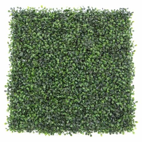 20 x 20-inch Artificial Plant Hedge Mat Screen (Set of 12)