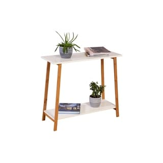2 Tier Solid Bamboo Frame Console Table