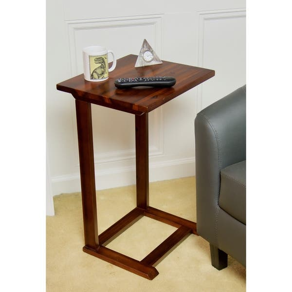 Shop Solid Acacia Slide Under Sofa C Table Free Shipping Today