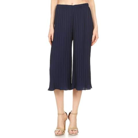 Women's Striped Cropped Palazzo Casual Pants