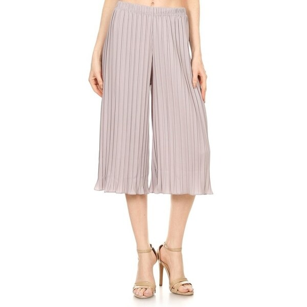 Women's Striped Cropped Palazzo Casual Pants. Opens flyout.
