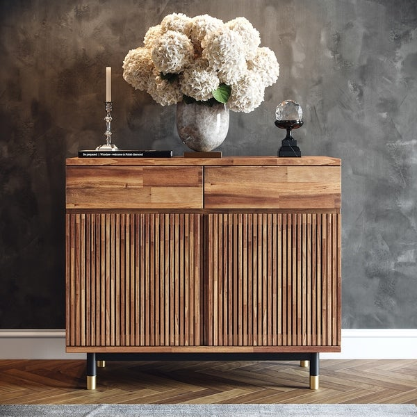 Carson Carrington Palmelund Solid Acacia Wood Cabinet
