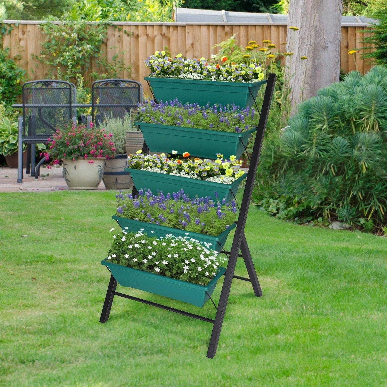 Shop Kinbor 4ft Raised Garden Bed Vertical Garden Planters W 5