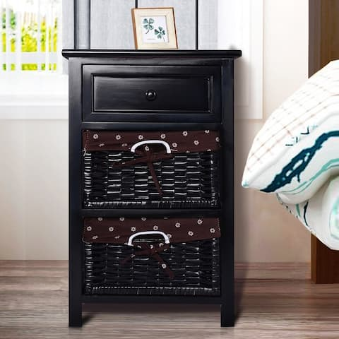 Copper Grove Jurby 3-tier Nightstand with 2 Rattan Drawers