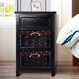 Link to Copper Grove Jurby 3-tier Nightstand with 2 Rattan Drawers Similar Items in Bedroom Furniture