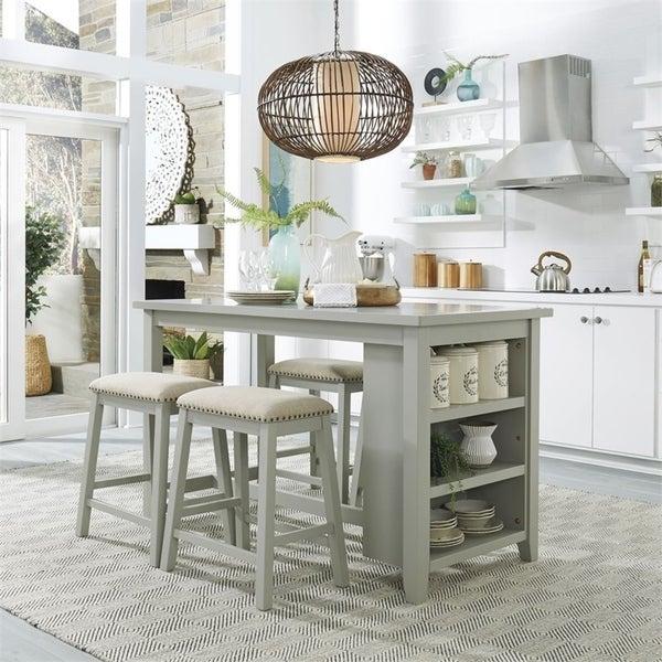 Brook Creek Grey 5-piece Rectangular Counter Set