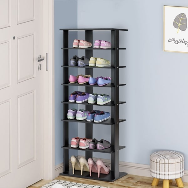 7-Tier Shoe Rack Storage Chest Organizer Free Standing Shelves