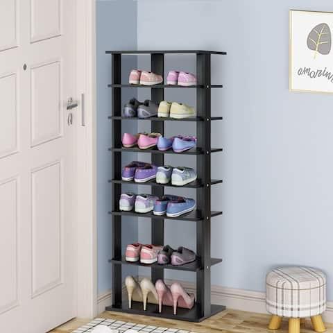 7-Tier Shoe Rack Storage Chest Organizer Free Standing Shelves