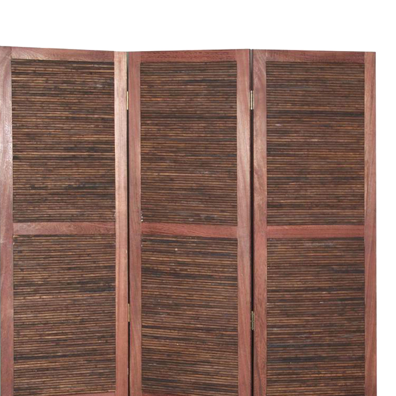 Room Divider With Horizontal Bamboo