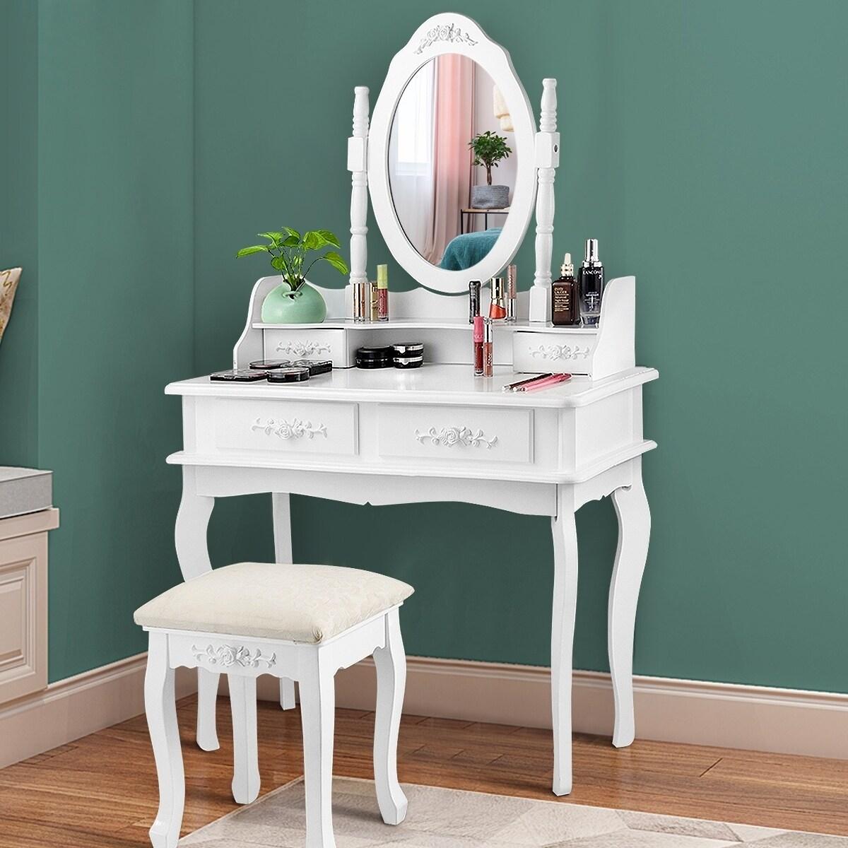 Vanity Make Up Table Set Dresser Mirror