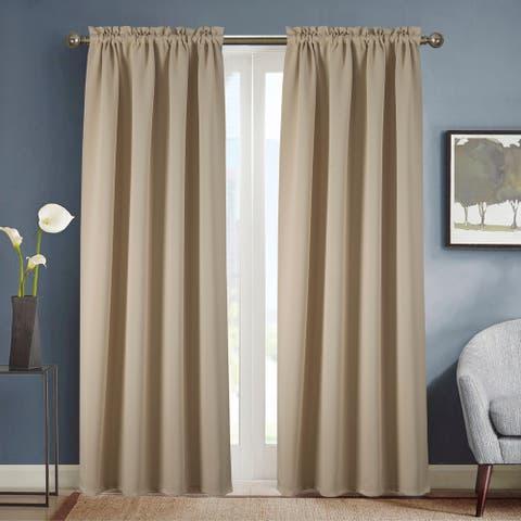Copper Grove Smithfield Solid Blackout Rod Pocket Single Curtain Panel - 54 x 90 - (1x) 54 x 90 in.