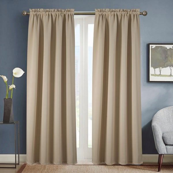 Copper Grove Smithfield Solid Blackout Rod Pocket Single Curtain Panel - 54 x 90 - (1x) 54 x 90 in.. Opens flyout.