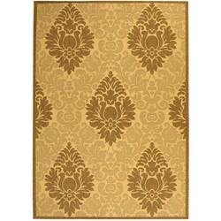 Safavieh Indoor/ Outdoor St. Barts Natural/ Brown Rug (5'3 x 7'7)