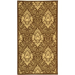 Safavieh Indoor/ Outdoor Crescent Chocolate/ Natural Rug (2' x 3'7)