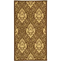 Safavieh St. Barts Damask Chocolate/ Natural Indoor/ Outdoor Rug - 2'7 x 5'