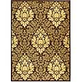 Safavieh St. Barts Damask Chocolate/ Natural Indoor/ Outdoor Rug - 7'10 x 11'