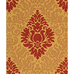 Safavieh St. Barts Damask Natural/ Red Indoor/ Outdoor Rug (2'7 x 5') - Thumbnail 2