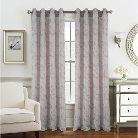 Tirano Two-Tone Jacquard Grommet Curtain Panel - (1x) 54 x 90 in.