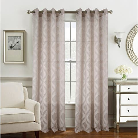 Ariana Clipped Doily Single Grommet Curtain Panel - (1x) 54 x 84 in.
