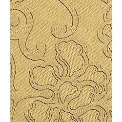 Safavieh Aruba Sand/ Black Indoor/ Outdoor Rug (5'3 Round) - Thumbnail 2