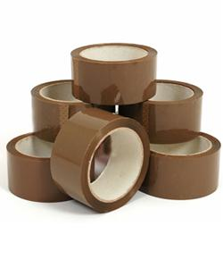 Tan 110-yard Two-inch-wide Packing Adhesive Tape (Case of Six)