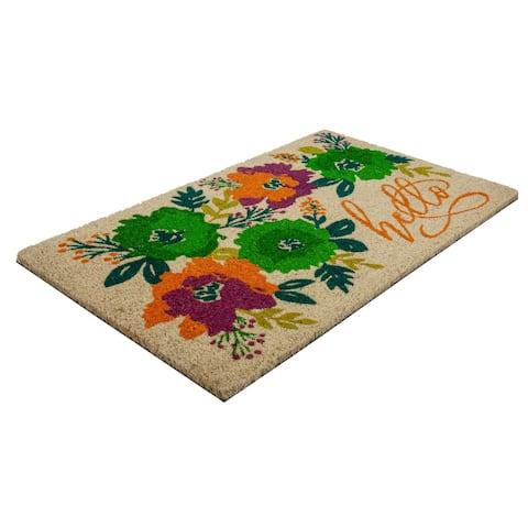 Unique Blooms Coir Doormat