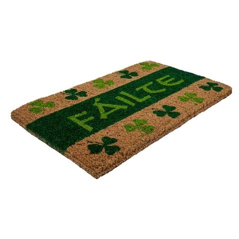 Fáilte Handwoven Coconut Fiber Doormat
