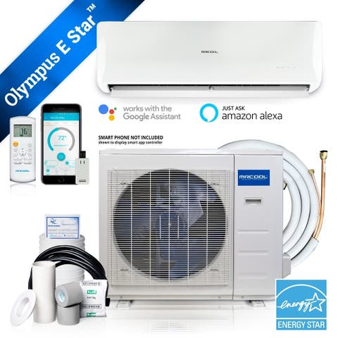Olympus ENERGY STAR 9,000 BTU 3/4 Ton Ductless Mini-Split Air Conditioner and Heat Pump - 230V/60Hz